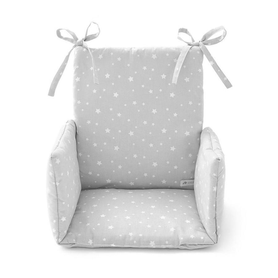 Coussin Chaise haute Etoile gris
