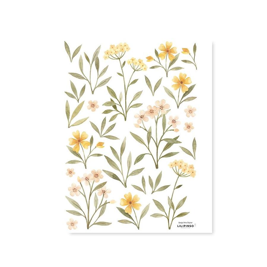 Stickers Fleurs d'orangées