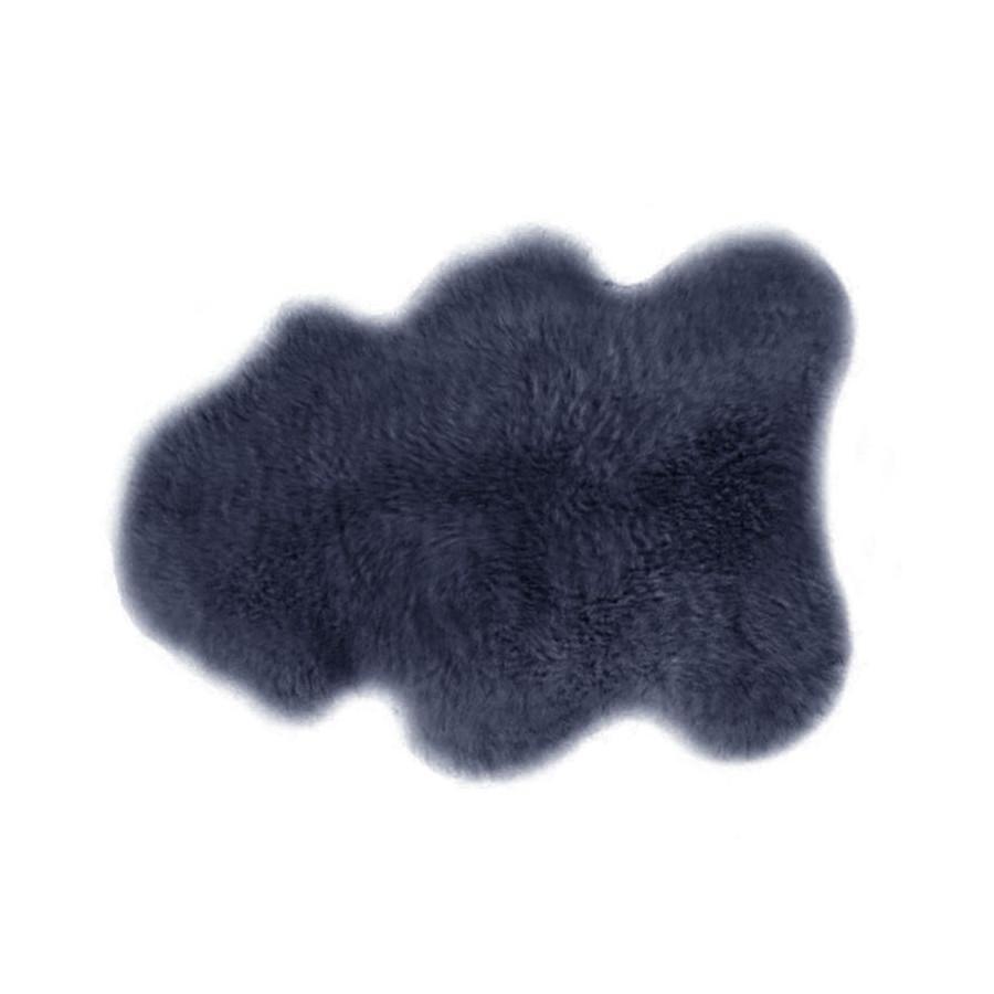 Peau d'agneau bleu acier