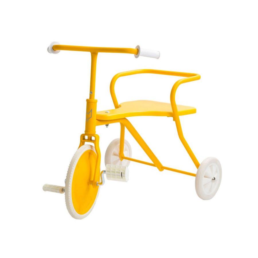 Tricycle Rétro jaune - Dès 18 mois.
