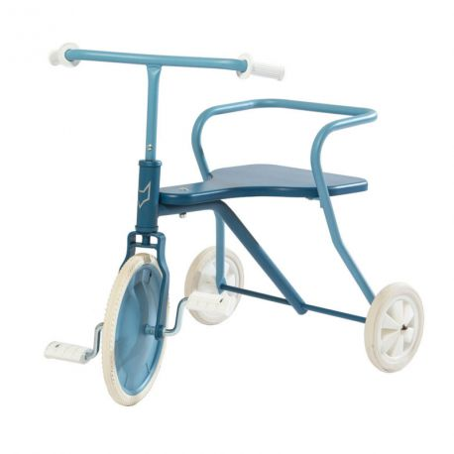 Tricycle Rétro bleu - Dès 18 mois.