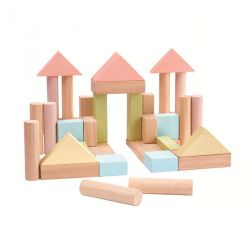 Blocs construction pastel