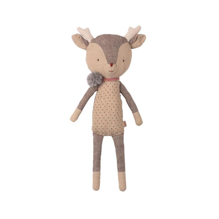 Doudou renne fille gris clair Maileg