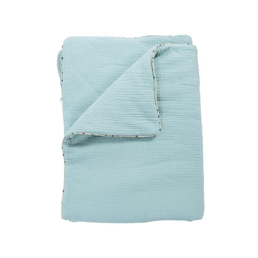 Couverture Plaid coton bleu