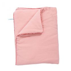 Couverture Plaid coton rose