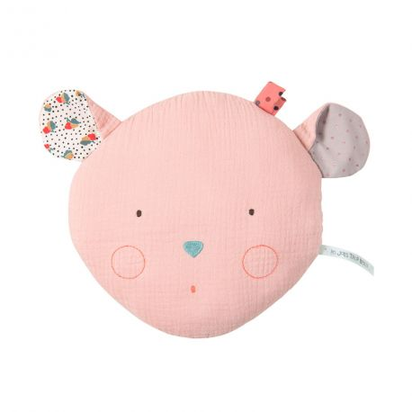 Coussin enfant Souris rose Moulin Roty