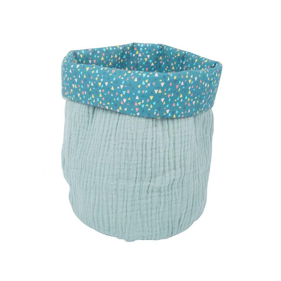 Petit panier en coton bleu