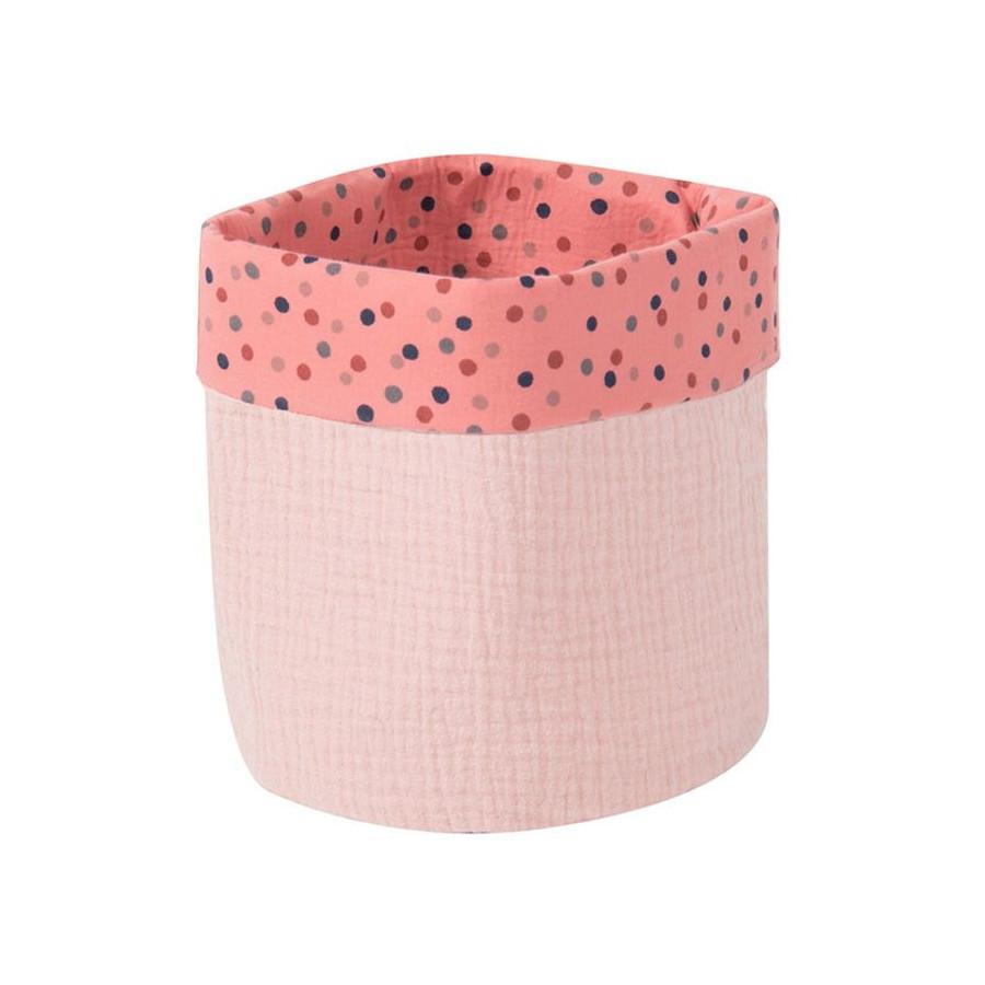 Petit panier en coton rose