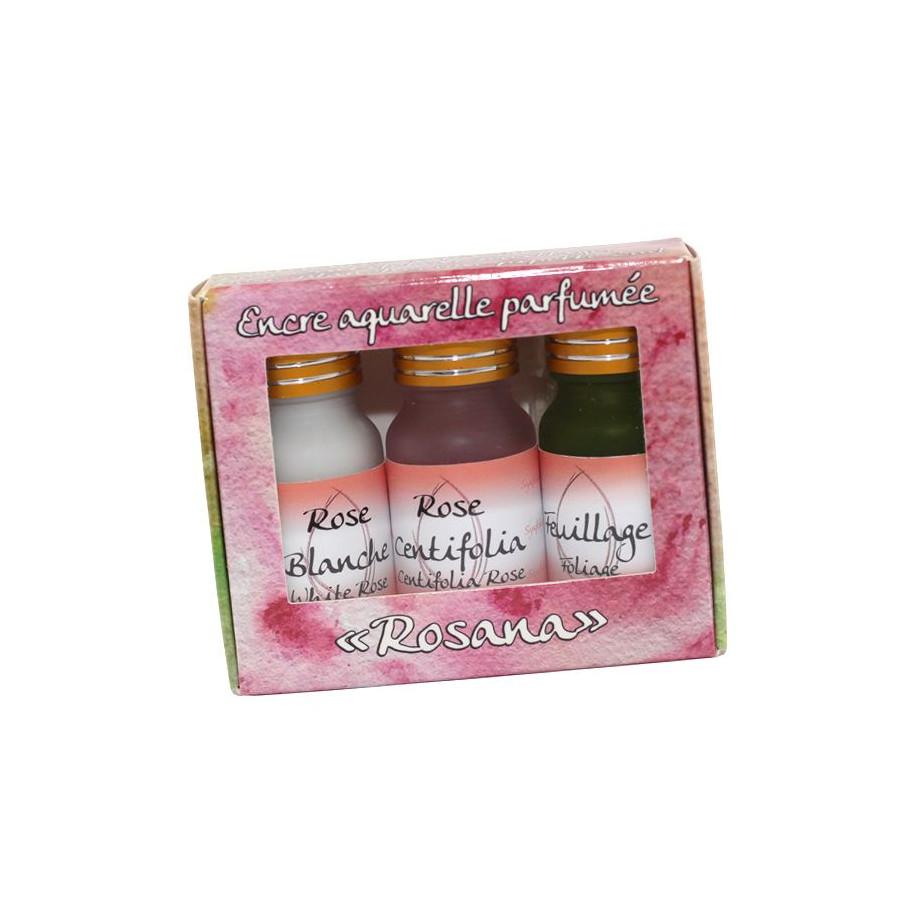 Coffret 3 encres parfumées Rosana