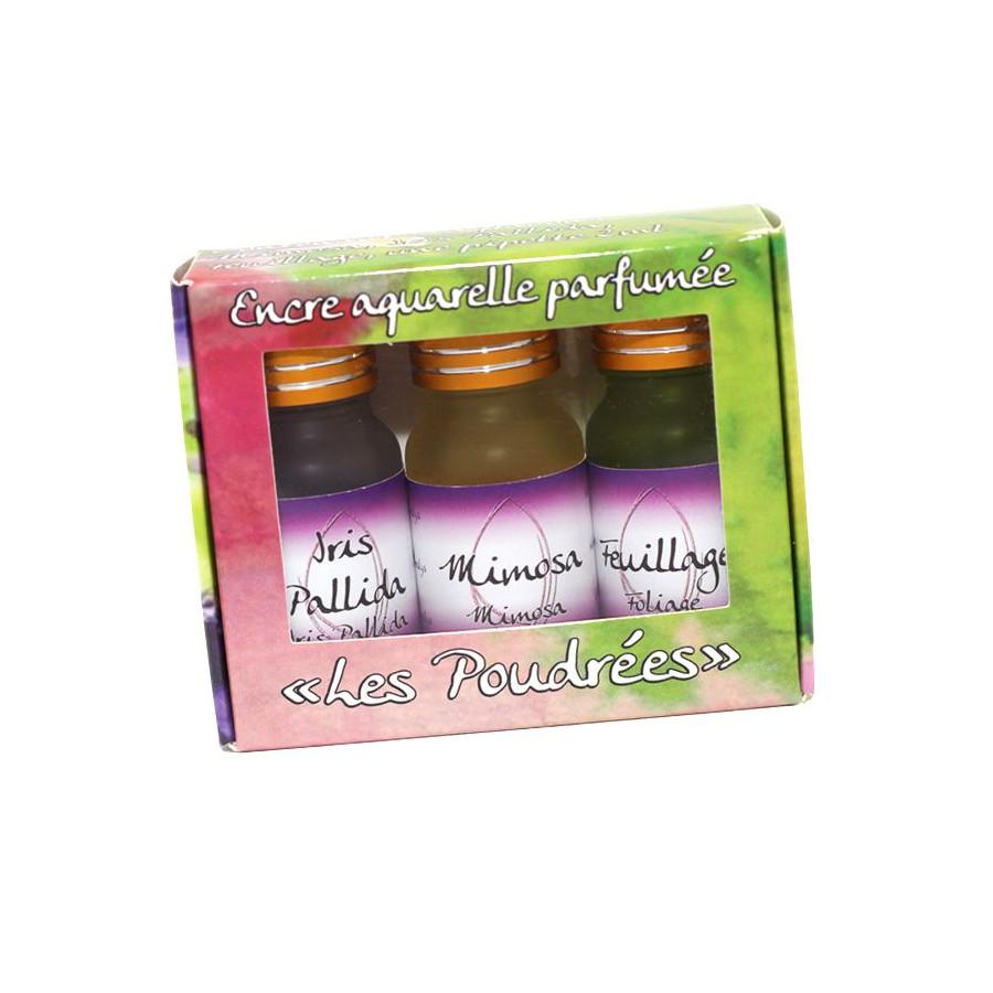 Coffret 3 encres parfumées Les poudrées