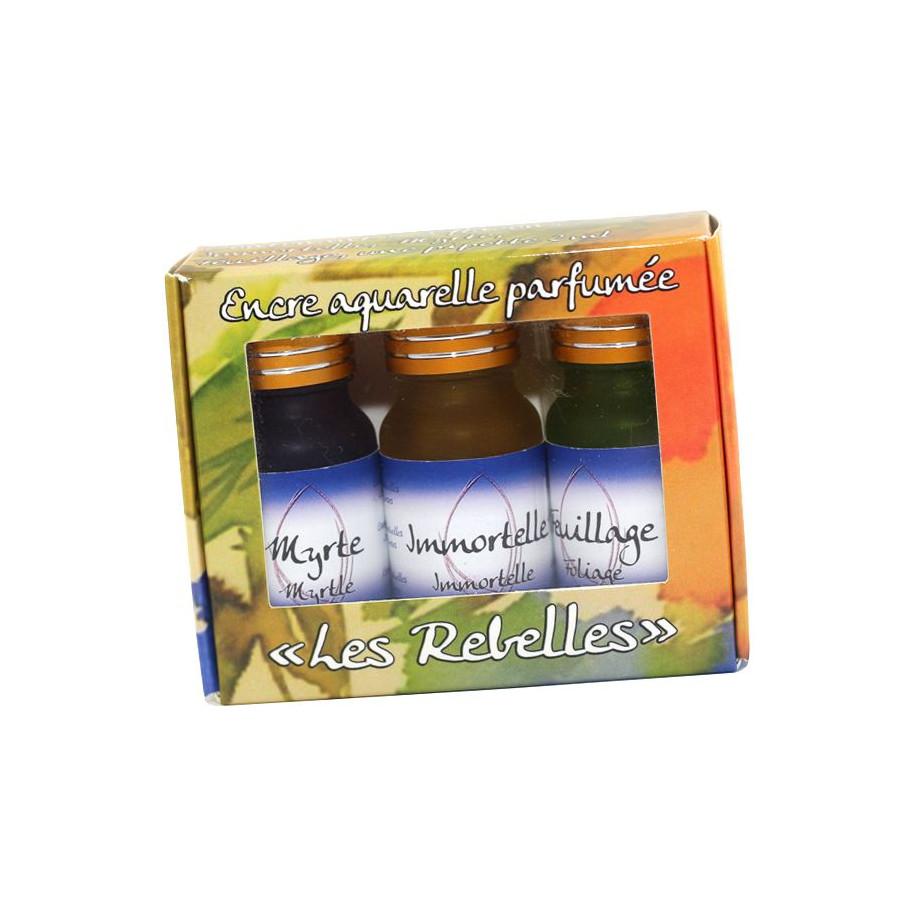 Coffret 3 encres parfumées Les rebelles