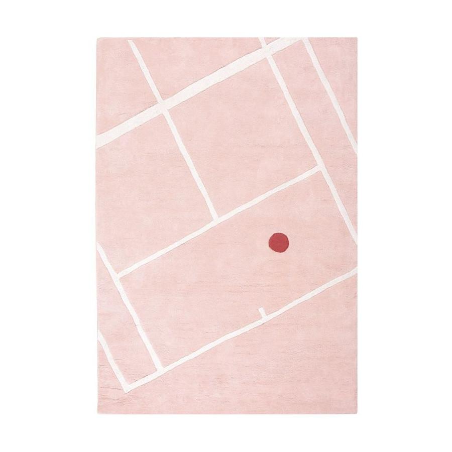 Tapis Tennis court rose