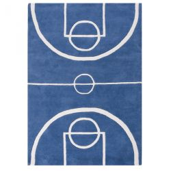 Tapis Tennis court bleu