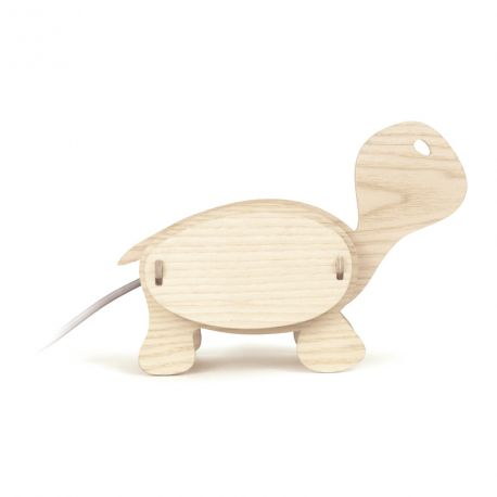 Lampe enfant Tortue bois naturel Gone's