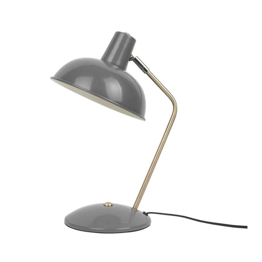 Lampe à poser Hood métal mat gris