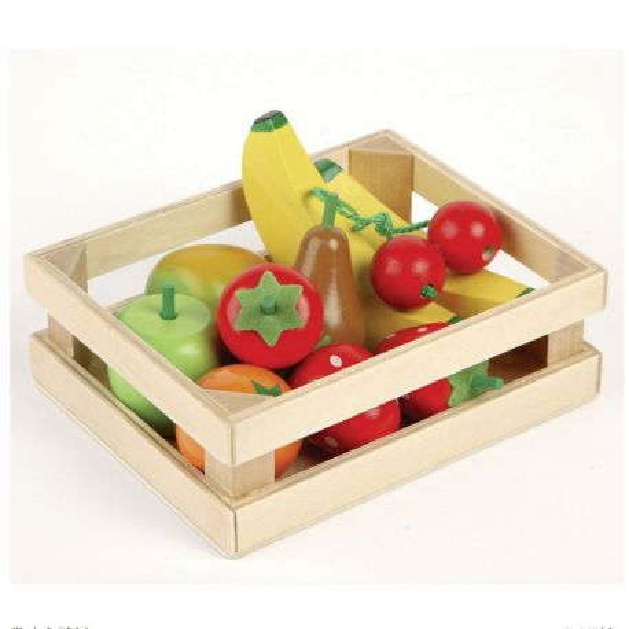 Caisse de fruits pour Jouer à la marchande Dînette en bois Tildo