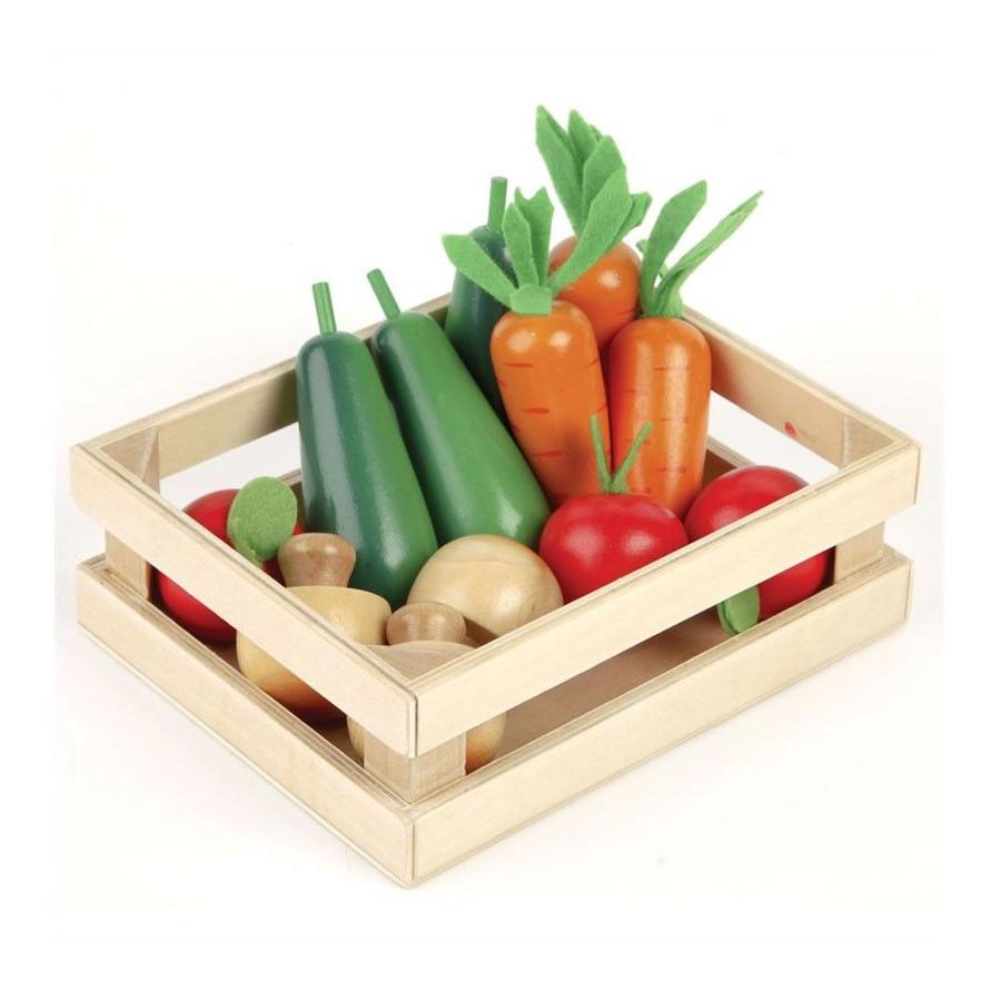 Caisse de légumes pour Jouer à la marchande Dinette en bois Tildo