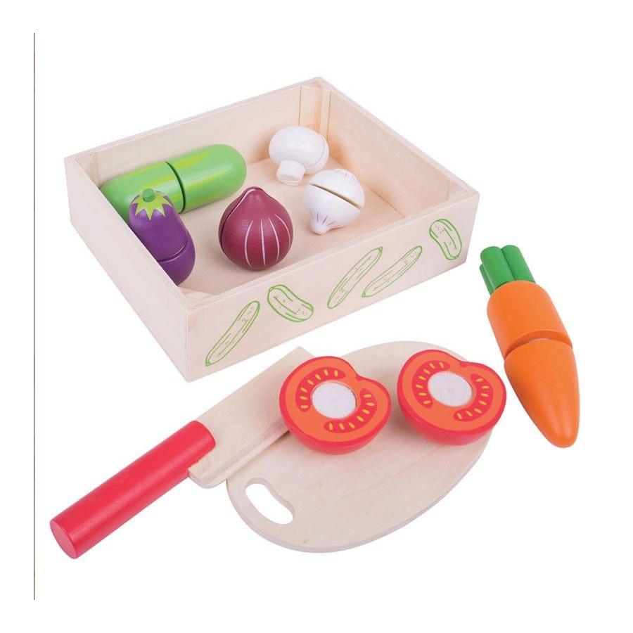 Caisse de légumes à découper Dînette en bois