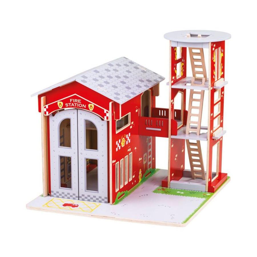 Grande Caserne de pompiers de ville Univers de jeu en bois