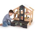 Maison de poupée meublée à aire ouverte