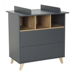 Commode Loft Anthracite - 2 tiroirs