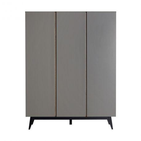 Armoire 3P Trendy Royal Oak grise