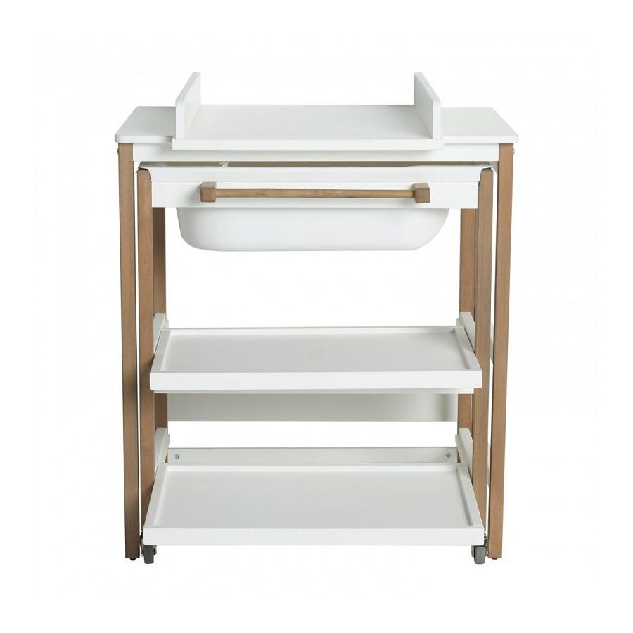 Table à langer Smart Blanc Naturel