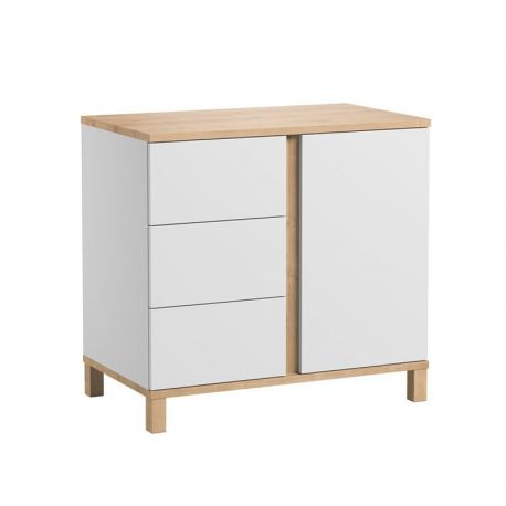 Commode 3 tiroirs Altitude Blanc