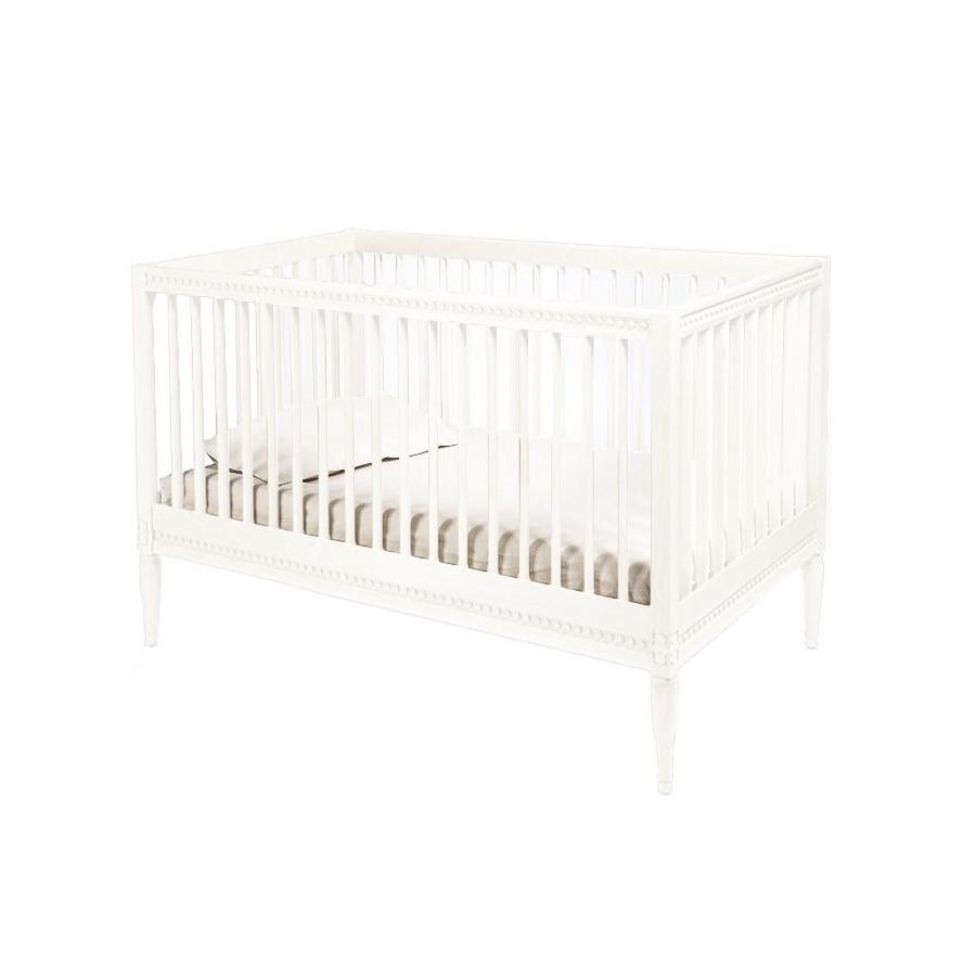 Lit bébé évolutif 140 Gustavienne blanc