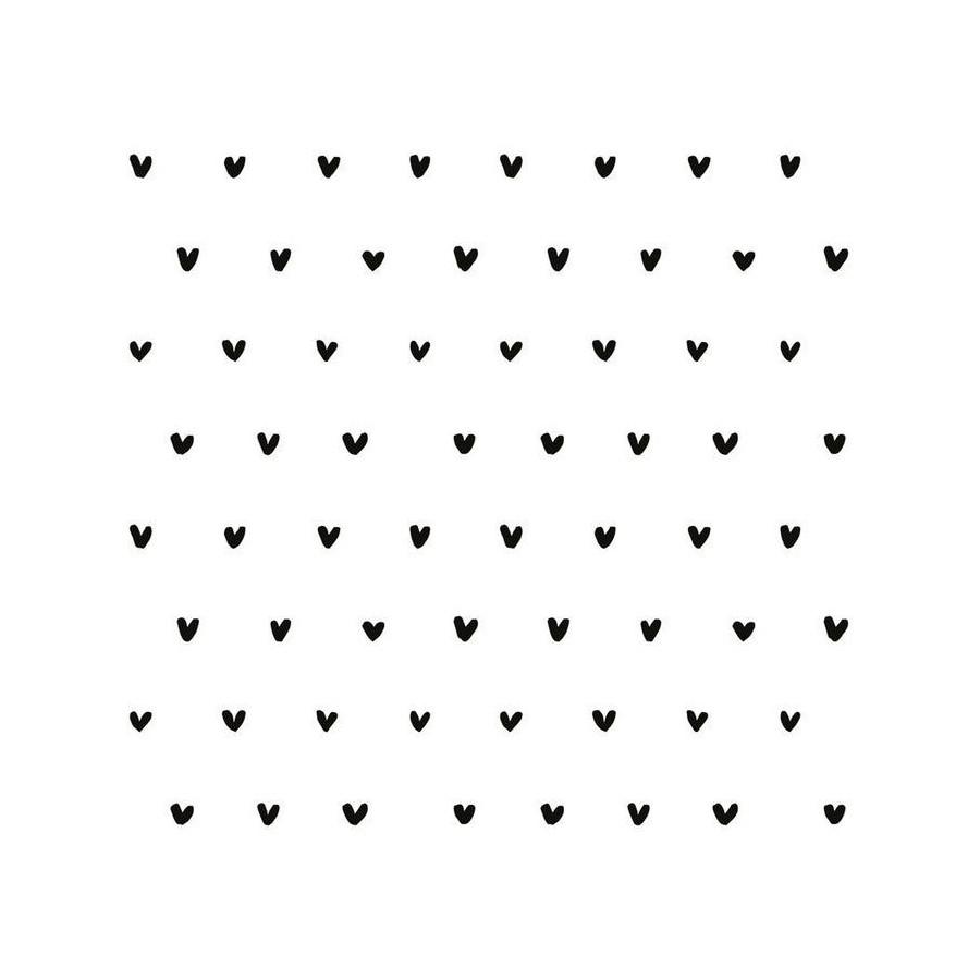 Papier peint Motifs coeurs noirs
