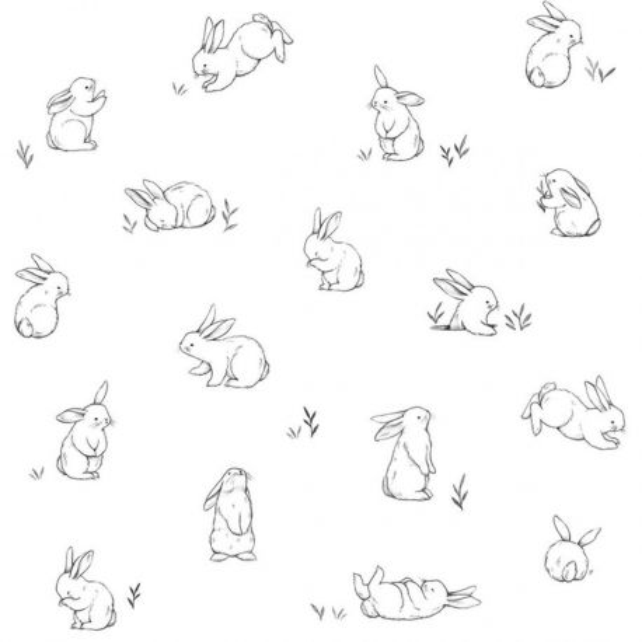 Papier peint Petits lapins