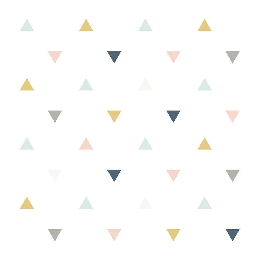 Papier peint Motifs triangles pastels