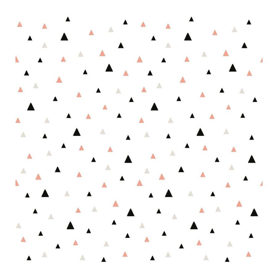 Papier peint Motifs triangles corails