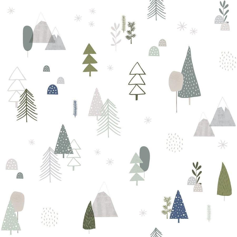 Papier peint Forêt nordic