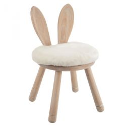 Chaise Lapin Bois Naturel