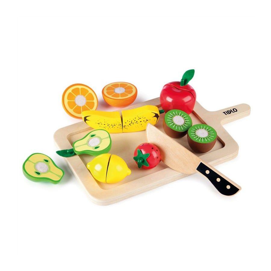 Planche de fruits à découper en bois