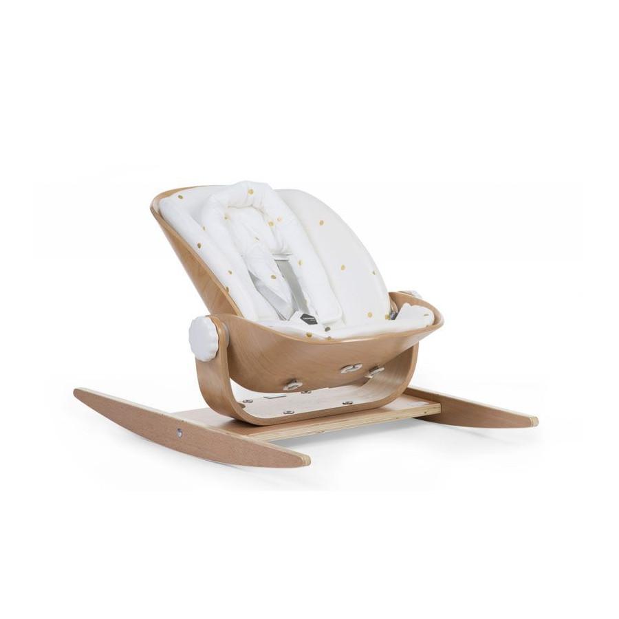 Woodrock coussin réducteur blanc et or