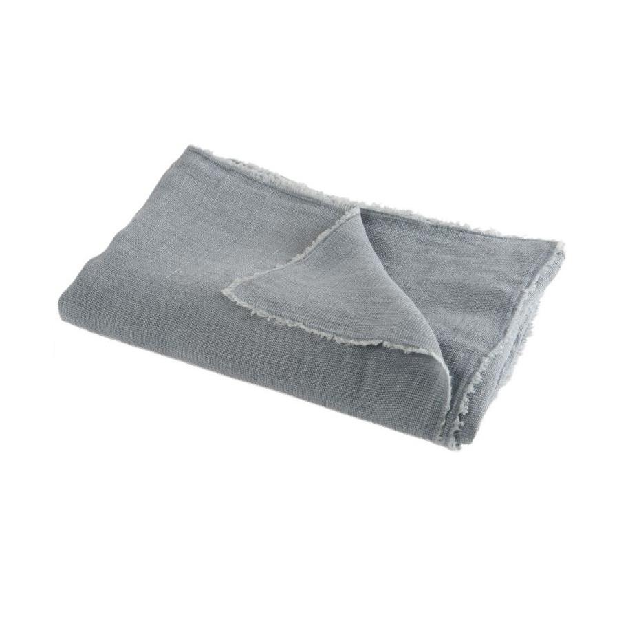 Plaid Delave bleu gris