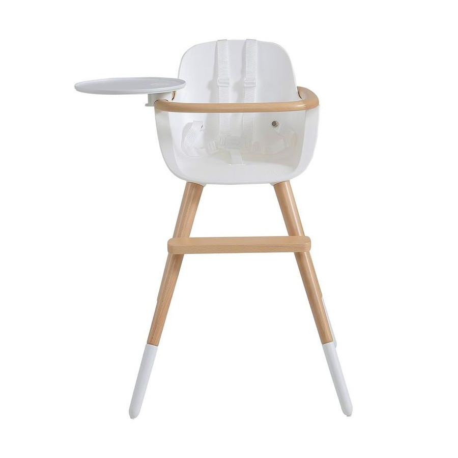 Chaise haute Ovo écru