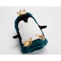 Plaid Pingouin bleu