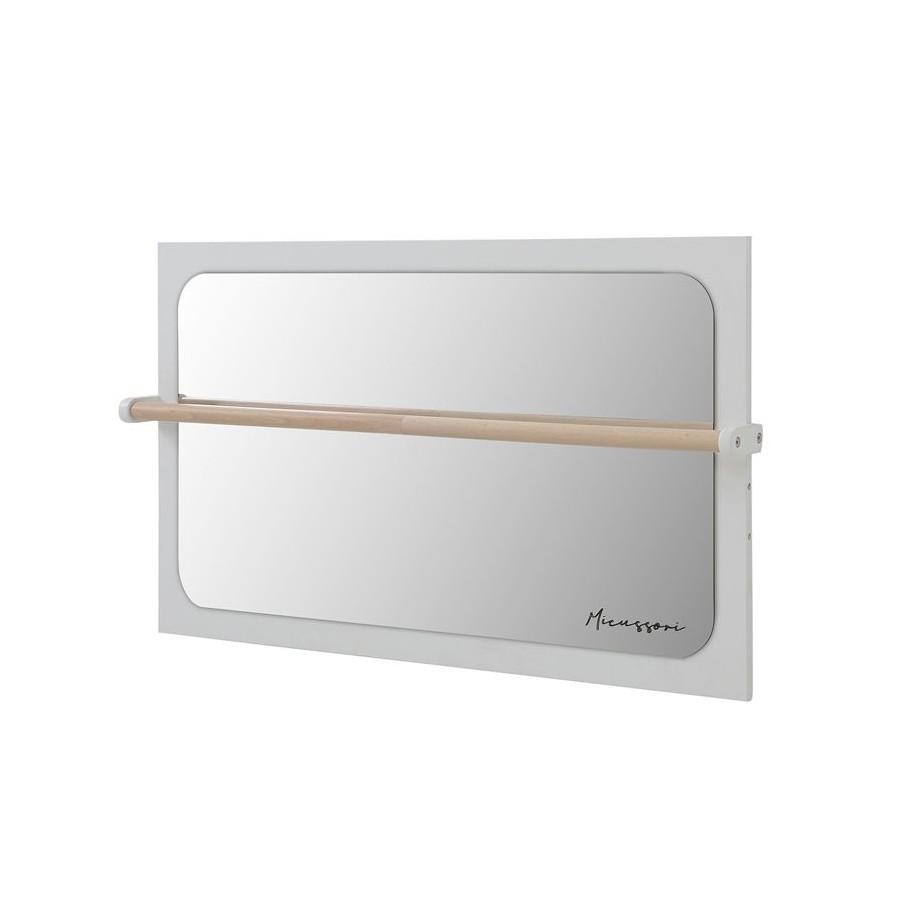 Miroir avec barre en bois Micussori