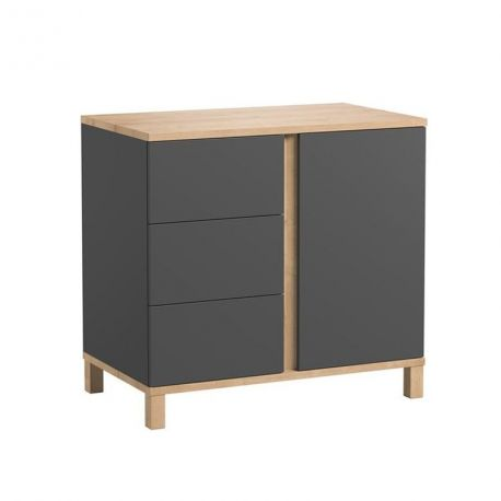 Commode 3 tiroirs Altitude Gris