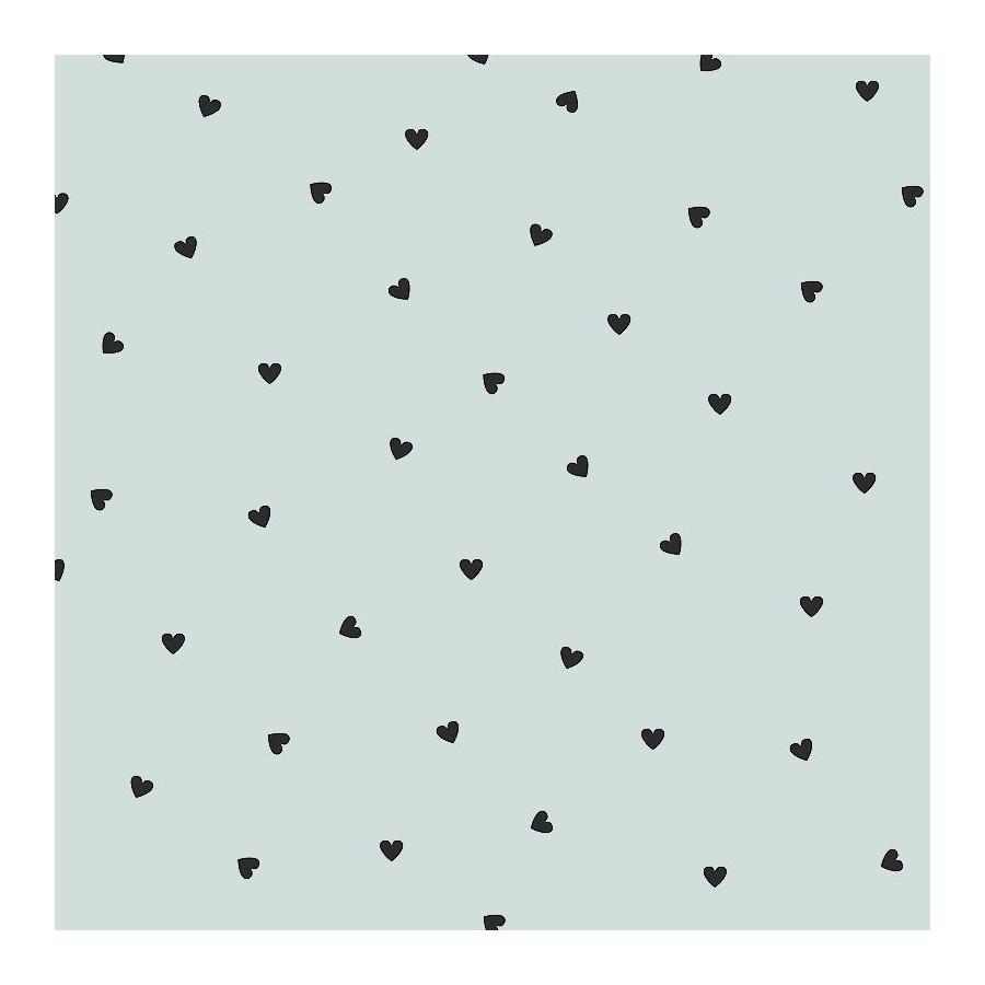 Papier peint Black hearts Morning mist