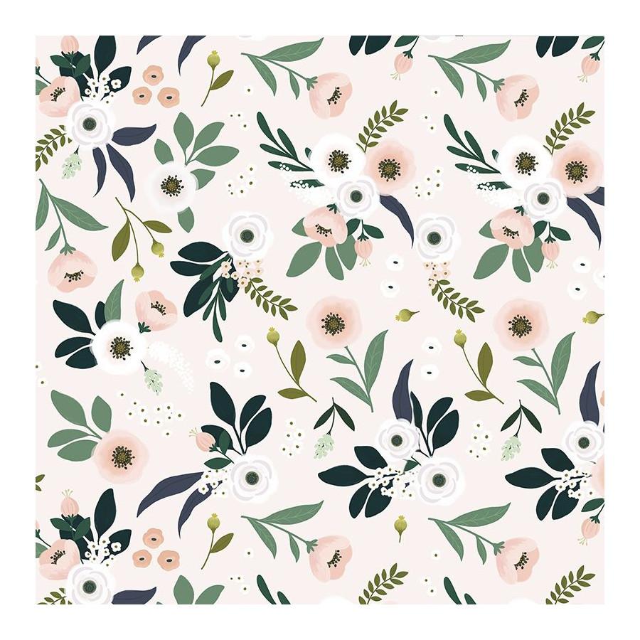 Papier peint Floral fond clair