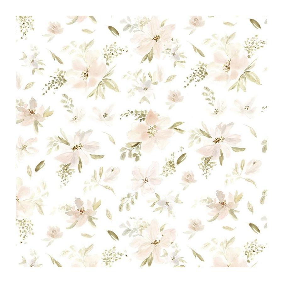 Papier peint Grande Fleur Aquarelle