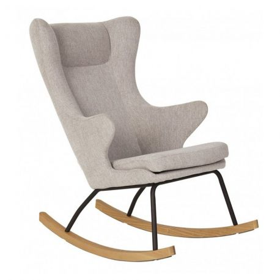 Fauteuil adulte Rocking Chair Gris sable