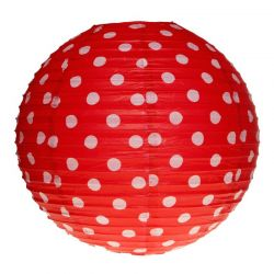 Lampion pois rouge