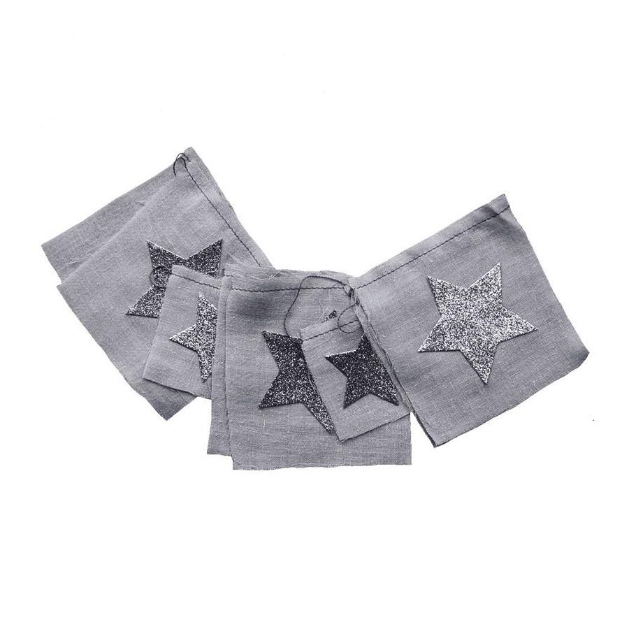 Guirlande tissu argent