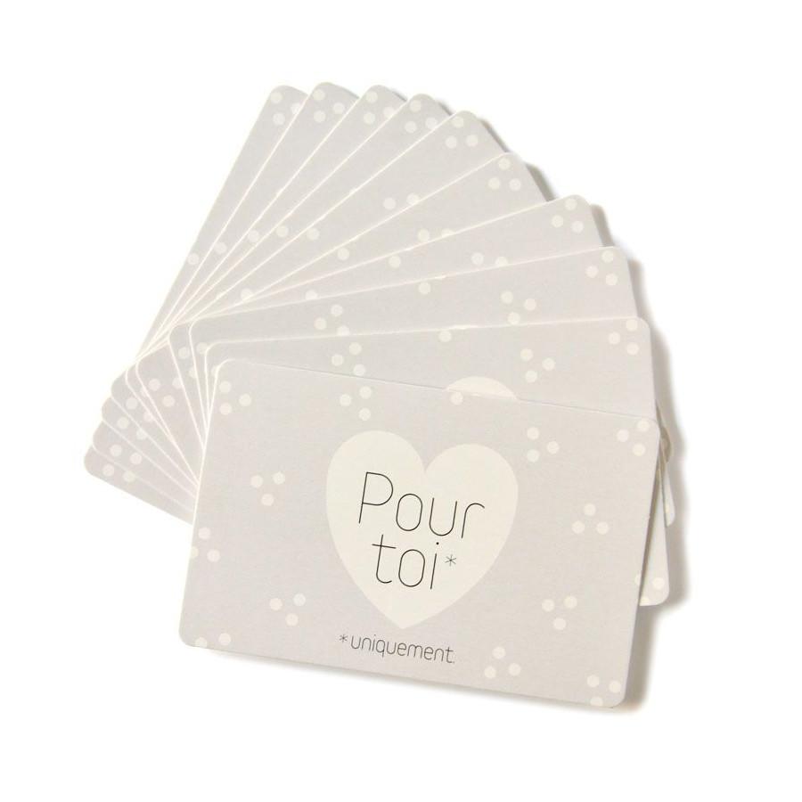 Mini cartes Pour toi